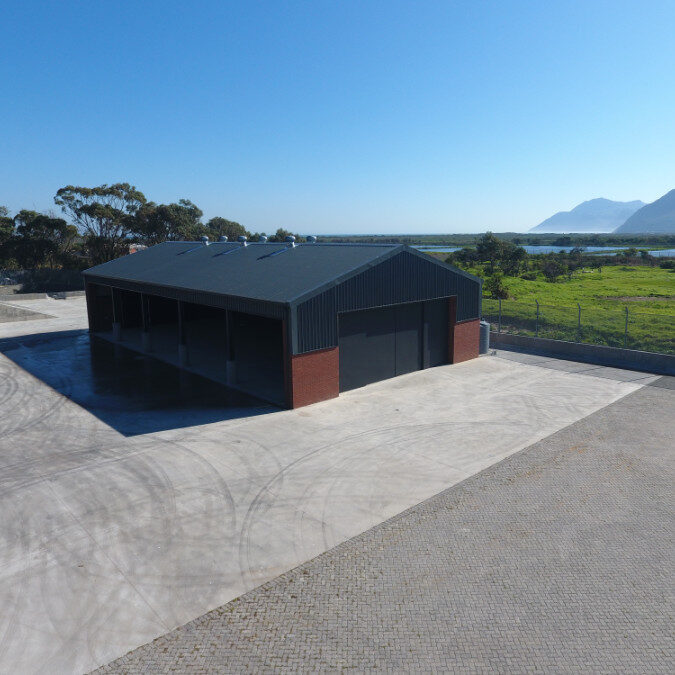 Construction of chipping facilities in Cape Town